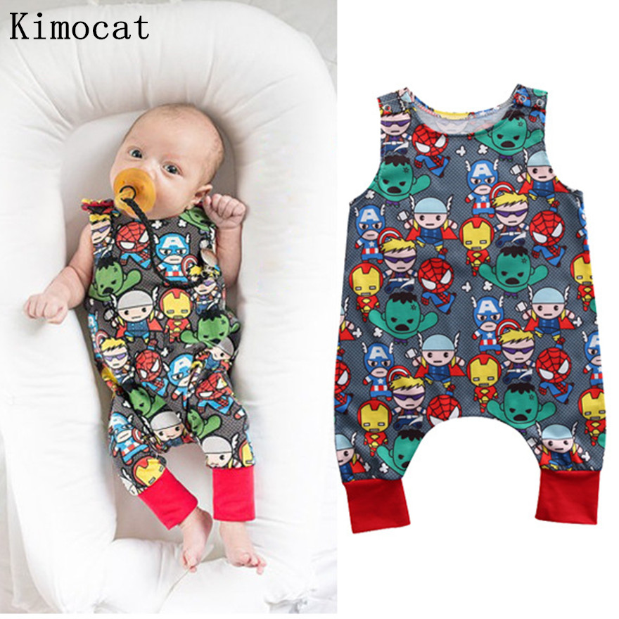 Summer 2017 Baby Kids Girl Boy Infant Summer Sleeveless Romper Harlan Jumpsuit Clothes Outfits 0-24M headband casual romper jumpsuit baby girl clothes gold polka dot cotton sleeveless outfits set baby girl 3 6 9 12 18 24 monthes