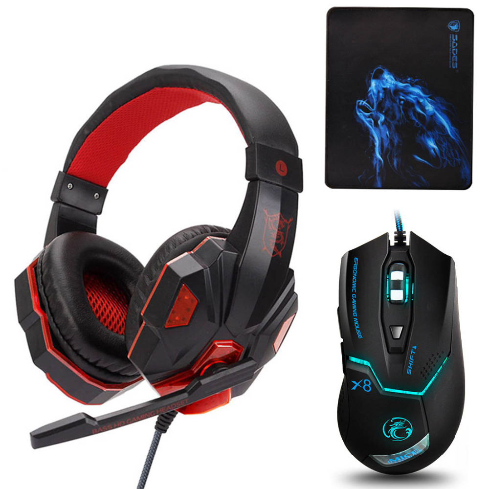 Brand Headphones Soyto PS830 Stereo Gaming Headset Gamer casque with Microphone Led for  ...