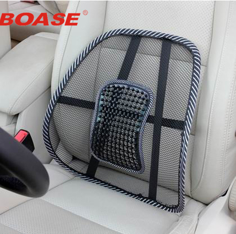 Black Car Backrest Cushion Car Seat Chair Massage Back Lumbar Support Mesh Ventilate waist Cushion Pad Backrest chair with lumbar support