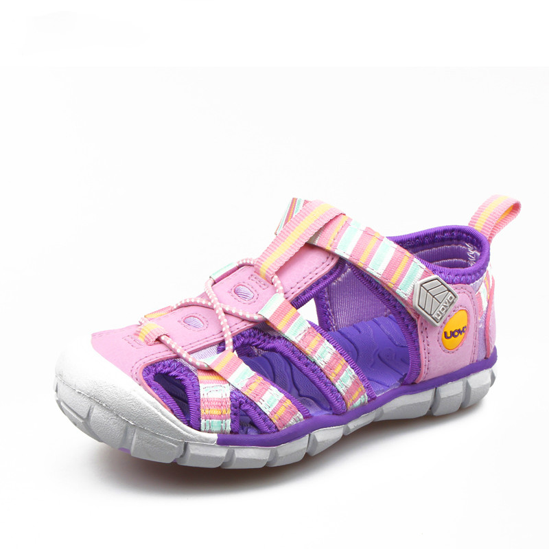 New Summer Kids Sandals For Girls Boys Child Beach Shoes Fashion Striped Hook-and-loop Kids Shoes Sandals
