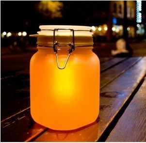 New Love 7 Color change  Decration Sun Jar Solar Powered Lamp Shift Led  Night Light  Decor Novelty Gift