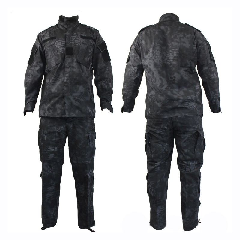 Python Black Tactical Suits Hunting Clothes For Men Military Uniform Outdoor Sports Camouflage Airsoft Combat Jacket And Pants