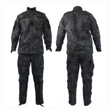 Kryptek mandrake black typhon color ACU Uniform nomad camouflage military tactical ACU,Airsoft combat uniform shirts + pants kryptek mandrake bdu g3 uniform shirt