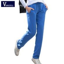 New 2016 Pants Women Solid Color Cotton Women's Pants Casual Slim Trousers Full Length Comfortable Gray Pants S-XXL