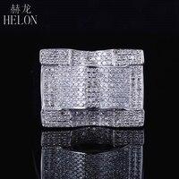 HELON стерлингового серебра 925 мужские ювелирные изделия отделка натуральная круглый огранки проложить дизайнер Пинки кольцо Обручение мужс