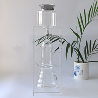 Free Shipping Filter Coffee Maker Glass drip pot drip filter coffee pot Coffee filtering tools percolators 360ml 580ml