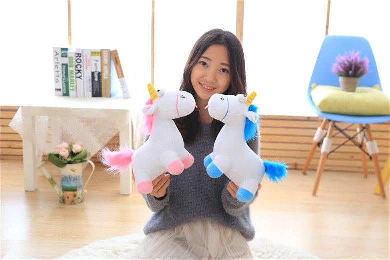 HTB1Y3atSXXXXXcRXFXXq6xXFXXXF - Cute pink/blue stuffed PP Cotton Horse doll Christmas present kids doll baby plush toys 30cm Cartoon plush Unicorn toys VOTEE