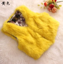 Supper deal 100 genuine rabbit fur vests waistcoats women real fur vests 2017 autumn and winter