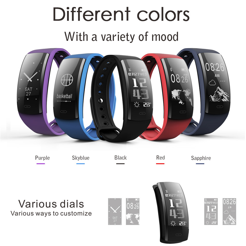 Diggro QS90 Blood Pressure Smart Bracelet Heart Rate Monitor Blood Oxygen Monitor IP67 Fitness Tracker for Andriod IOS VS QS80 4