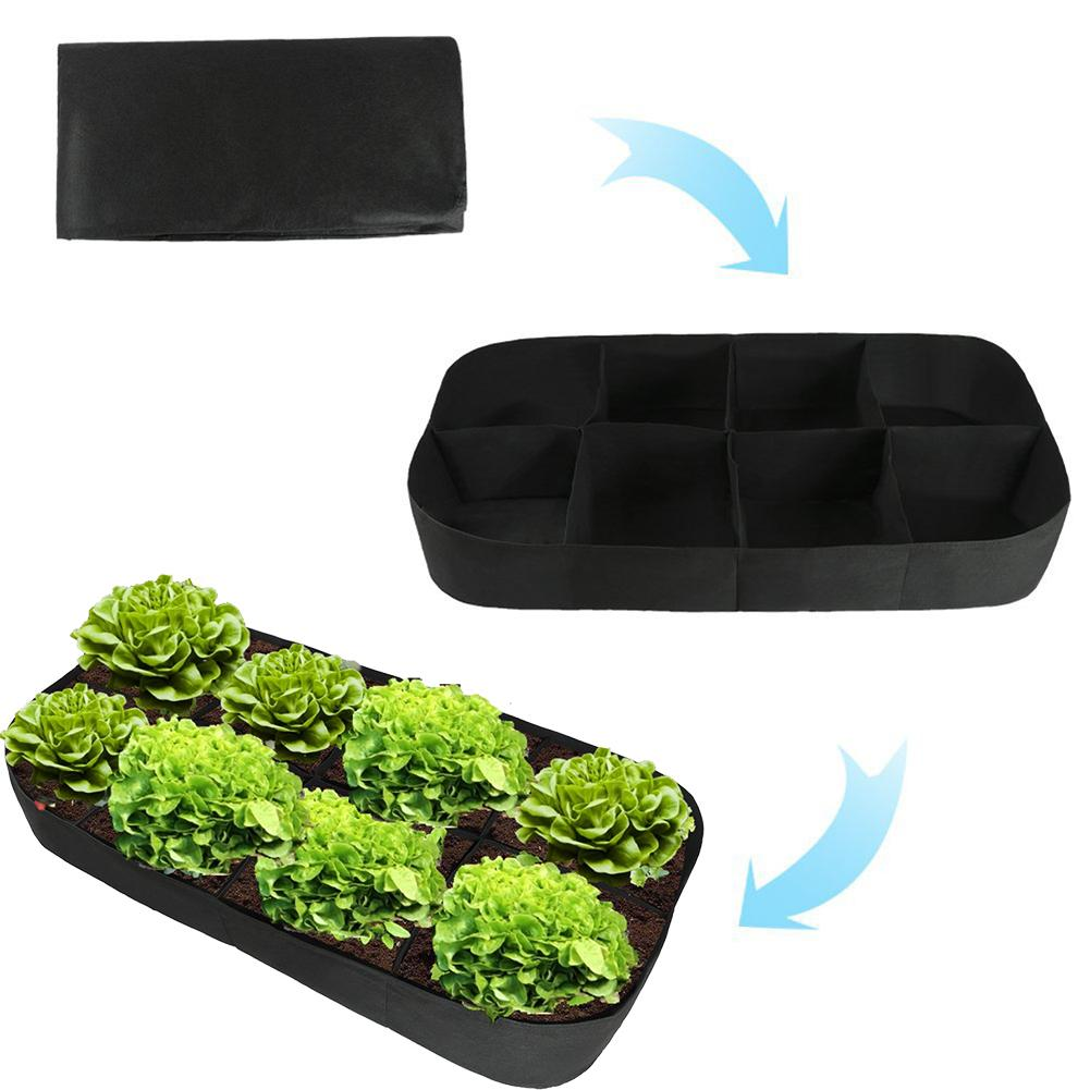 Felt Planting Bag Multiport Garden Flower Vegetable Planting Bag Cultivation Farm Garden Supplies 180x90x30cm