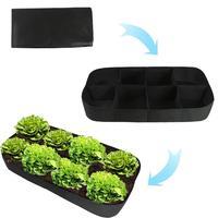 Felt Planting Bag Multiport Garden Flower Vegetable Planting Bag Cultivation Farm Garden Supplies 180x90x30cm