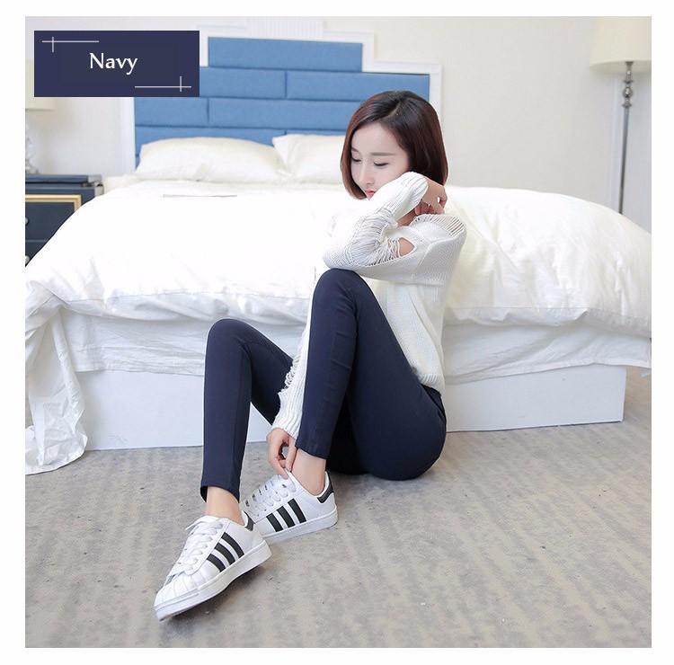 7 Colors Plus Size Pants Full Length Women Spring Autumn Pencil Pants Causal Slim High Waist Legging Stretch Trousers 2016 A663  f