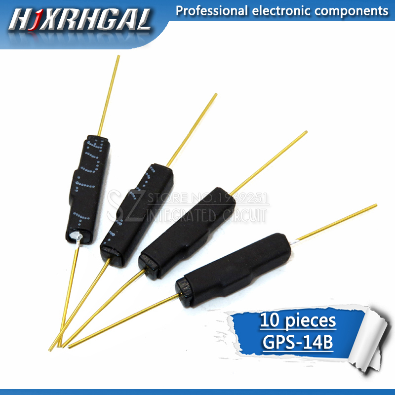 10pcs Plastic Type Reed Switch 2 * 14 Normally Open Magnetic Control Switch Gps-14b Anti-vibration Sensors Hjxrhgal