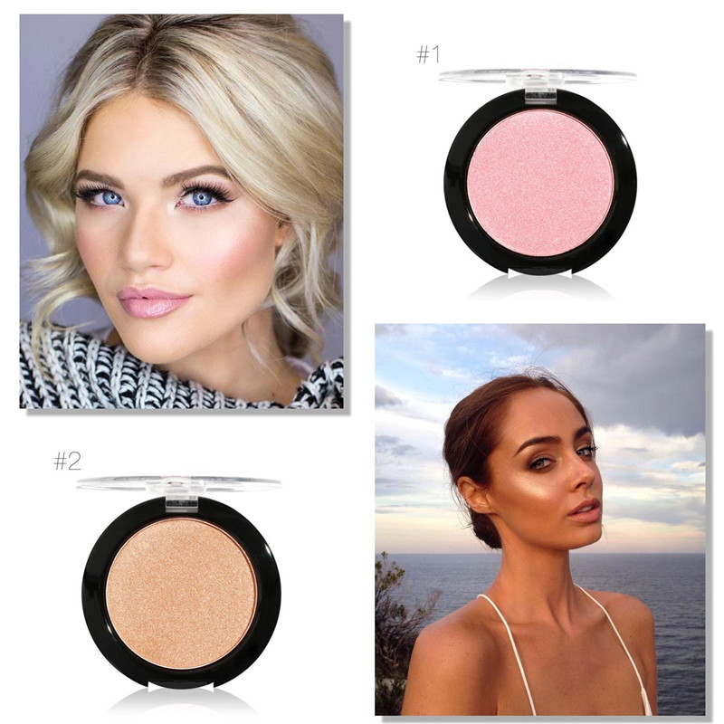 Makeup 2017 New Arrival Highlighters Face Cosmetics Brighten Pink Gold Minerals Shimmer Powder Highlighter Glow Contour Kit