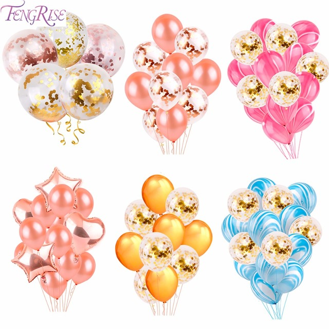 Fengrise gold champagne wedding balloons wedding party decoration fengrise gold champagne wedding balloons wedding party decoration latex happy birthday balloon 2018 graduation party supplies junglespirit Images