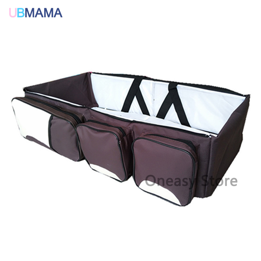 Multifunctional Mummy Bag Foldable Portable Variety Of Colors Game Beds Environmental Safety Newborn Baby Bed For 0-18M