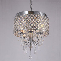 Dia40cm Lighting Fixture Modern Luxury K9 Crystal Chandelier LED Hanging Light Lustres De Cristal Lamp Suspend