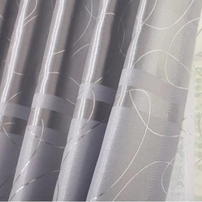 Popangel New Luxury Silvered Thickening Customized Finished Blackout Thermal Insulated Living Room Window Curtains and Tulle