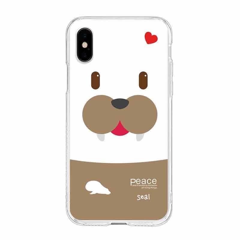 Cartoon Roze Luipaard lijn vis vuist TPU Telefoon Case Voor iPhone 6 6 S Plus 7 7 Plus 8 Plus iPhone X 5 s 4 s C281