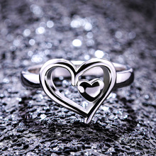Fashion Heart Rings for Women Engagement Silver Jewelry 2019 New Arrivals Ladies Gifts Dropshipping