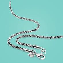 Hombres collar de plata Tailandés cadena twisted singapur 3.5mm61cm Sólida cadena de plata 925 collar de plata esterlina Envío gratis