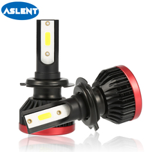 Aslent NEW 2pcs mini H7 LED H4 H11 H8 H1 H3 HB3 HB4 9005 9006 Headlight Bulbs 100W 20000lm 6500K lamps for cars Lights 12V