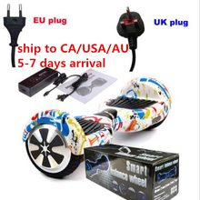 Ship to RU/AU/CA/USA electric scooter self balancing skateboard Hover board electric unicycle standing drift electric hoverboard