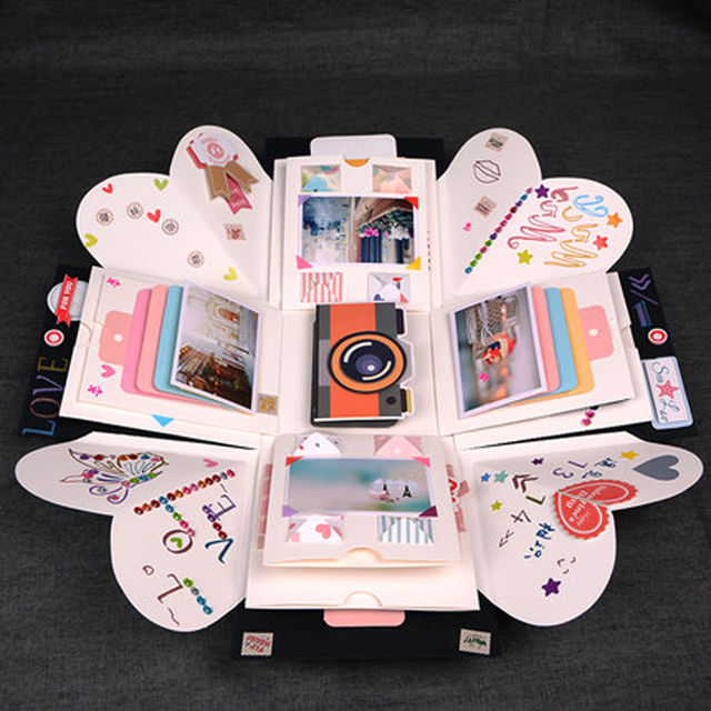 2018 Hot Personalized Birthday Gift Handmade Box Memory Book Diy Graduation Album Lovers Girl