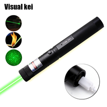 Военная Униформа 532nm зеленый красный Зарядка через usb Лазерная 303 Мощный 5 МВт лазер указатель Верде ручка Sky star сжигание луч ожог матч