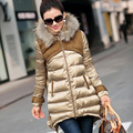 Hooded Long Section Padded Jacket Women New Winter Fur Collar Thicker Big Size Fashion Loose Cotton Coat  Plus Size 2XL C558