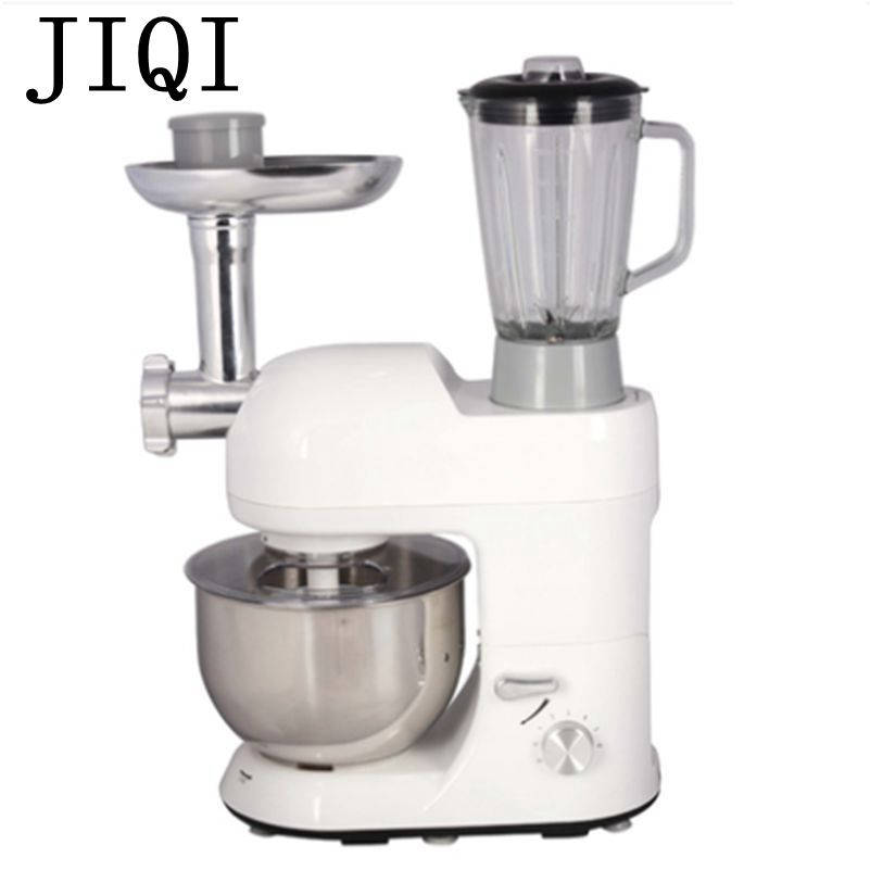 JIQI Electric stand mixer Multifunctional dough knead Machine juicer eggs whipping Beater 5.2L Sausage Meat grinder food Blender