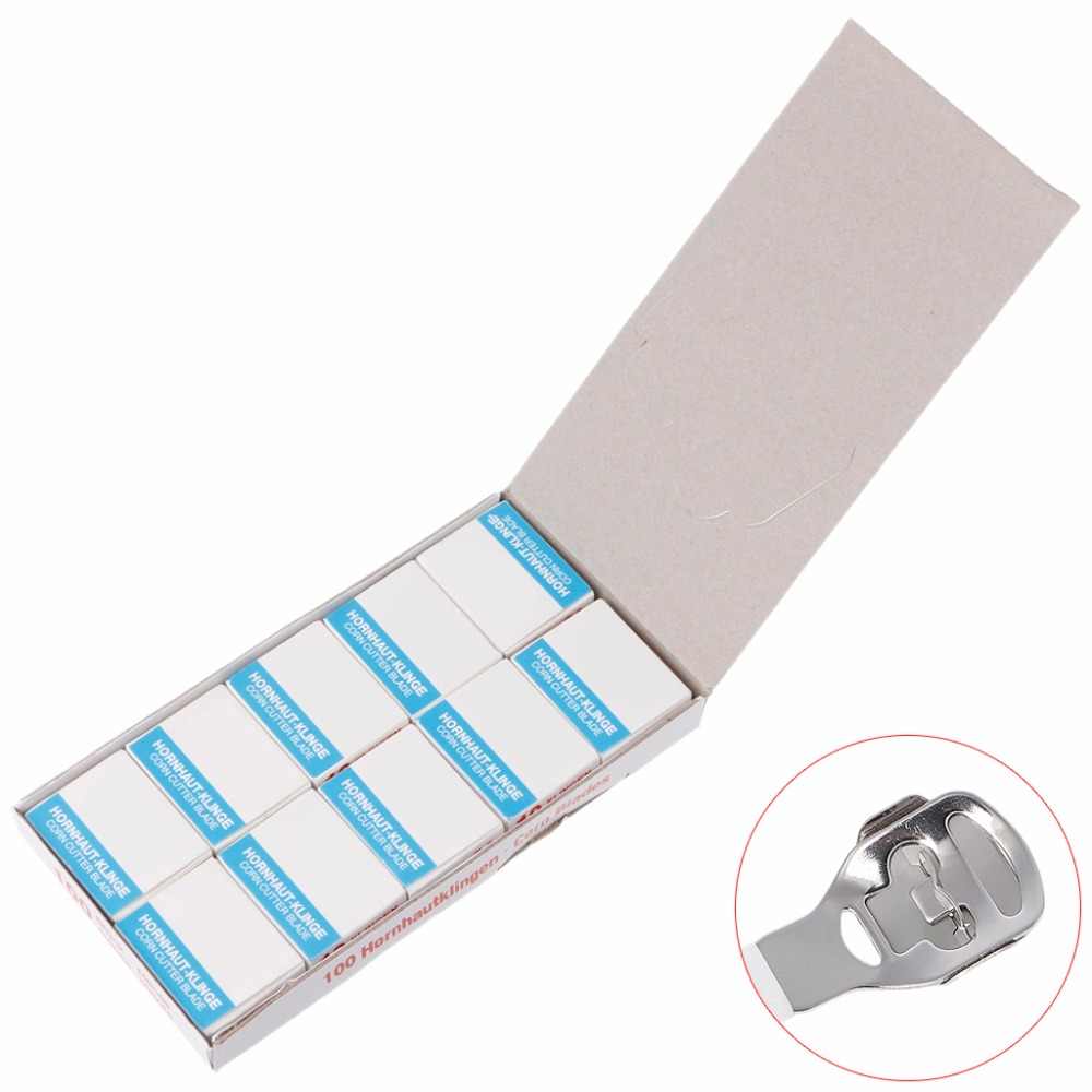 100Pcs/Set Shaver Blade Replacement For Dead Skin Corn Remover Pedicure Foot Care piercingj callus corn cuticle hard skin remover shaver foot pedicure kit 10 blade tool