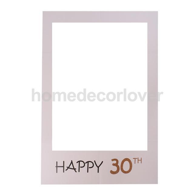 Feliz 30th Photo Booth prop papel selfie Marcos Fondos para fiesta ...