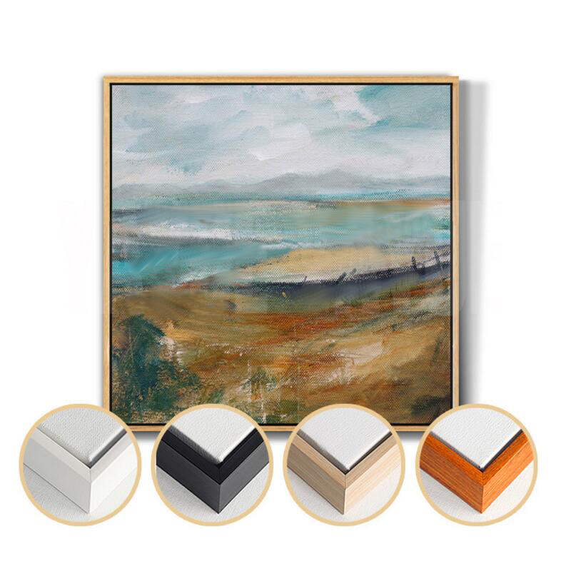 Wall Art New Home : New framed abstract countryside landscape view wall art