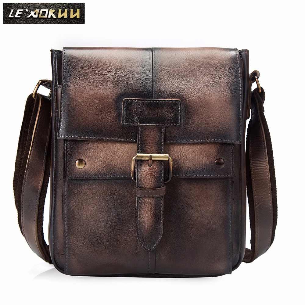 Crazy horse кожаная мужская модная сумка через плечо из натуральной кожи дизайнерская сумка Mochila университетский книжный школьный рюкзак 8571