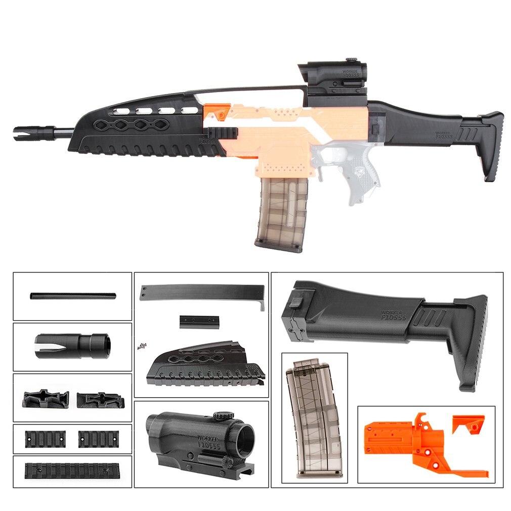 TRAVAILLEUR MOD XM8 Imitation Kit 3D Impression Décoration Haute Résistance En Plastique Pour Stryfe Modifier Jouet Pour Nerf Pièces Jouets Pistolet les saf