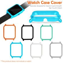 Watch Frame Amazfit Bip Youth Smart Watch Protector Case Slim Colorful Frame PC Case Cover Protect Shell For Huami watch frame amazfit bip youth smart watch protector case slim colorful frame pc case cover protect shell for xiaomi huami