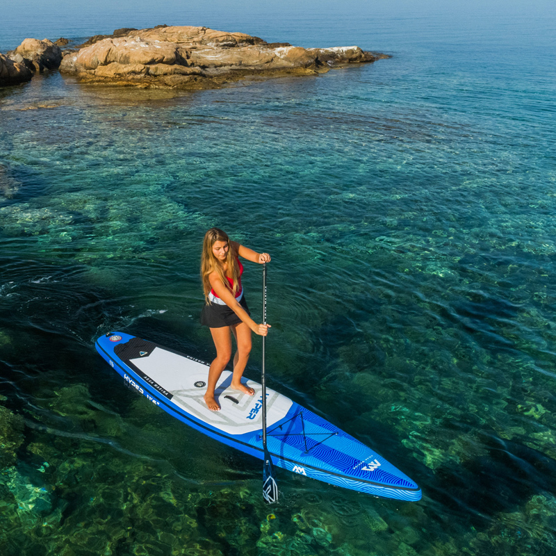 381*81*15cm AQUA MARINA 2019 HYPER inflatable sup stand up paddle board inflatable surf board surfboard fast racing speed water scuba dive light