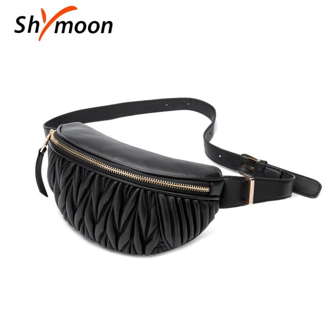 SHYMOON Женские поясные сумки роскошные брендовые дизайнерские поясные сумки модные кожаные нагрудные сумки Kenken сумки на плечо поясные сумки