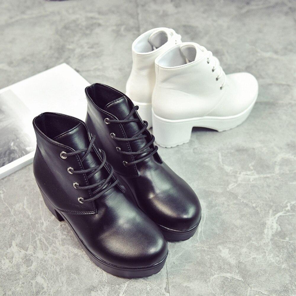 Moda white Casuales De Mujeres Tobillo Cortas Zapatos Las Señoras Black Cuero Botas T8726 Oxford 1TIOq8gn8