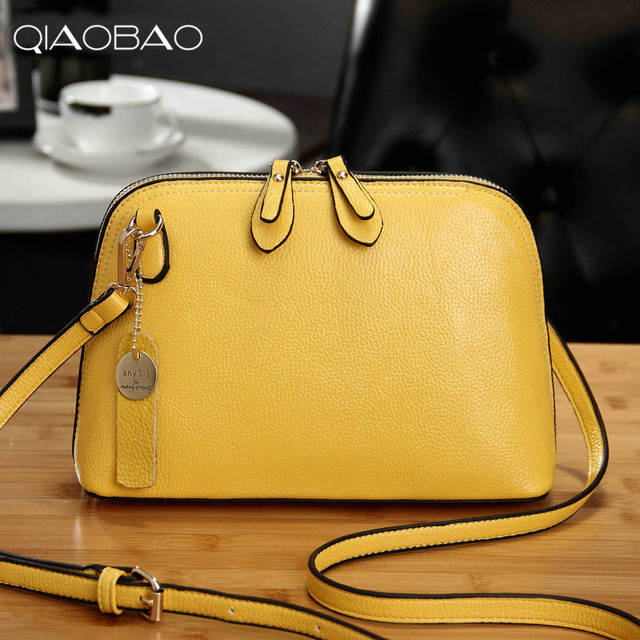 5a796224ba QIAOBAO Hot Sale Leather Small Bag Shells oblique across the package Korean  fashion trend female shoulder