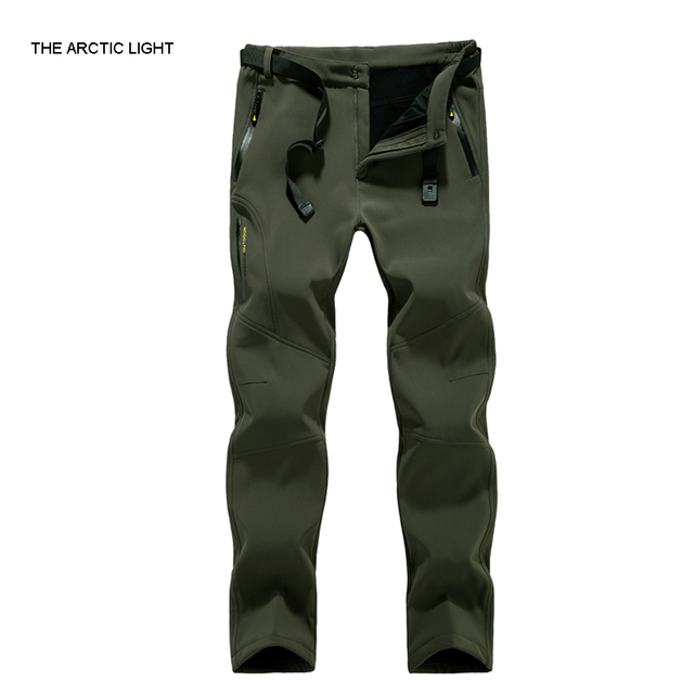 8e6f0f27d4c THE ARCTIC LIGHT Winter hiking pants fleece softshell pants men outdoor  trousers waterproof mountain trekking 3 color