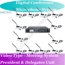 лучшая цена MICWL Video Teleconference function Wired Digital Microphone Meeting Conference System Chairman Delegate Unit