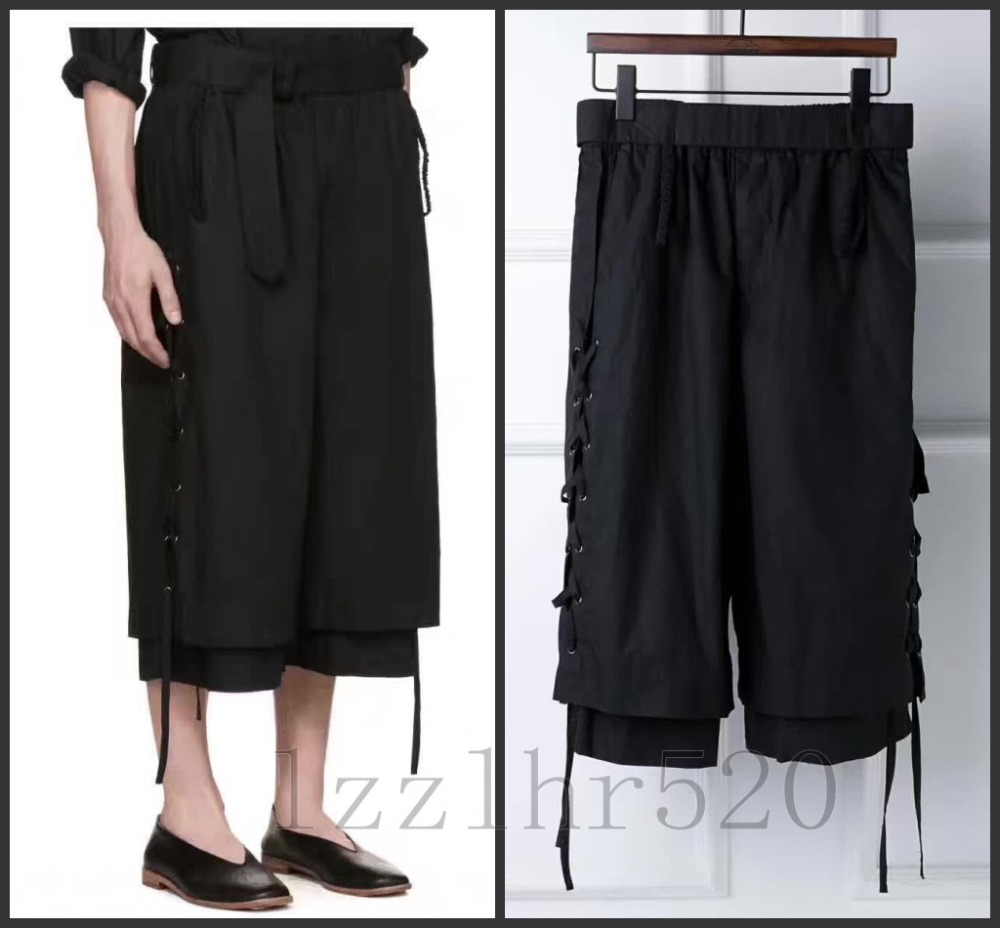 Casual Pants Street-Stitching Singer Stylist Men's Fashion Plus-Size Original Hair Costumes