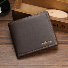 Baellerry Luxury Leather Vintage Men Wallets Coin Money Small Male Credit Card Holder Clutc