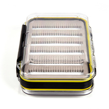 1PC Transparent Waterproof Fly Box Clear Double Sided W/Foam Inserts Fly Fishing Gear Tackle Container Storage Box Case