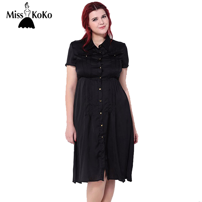 Misskoko plus size new fashion women big size retro slim for Women s button down dress shirts
