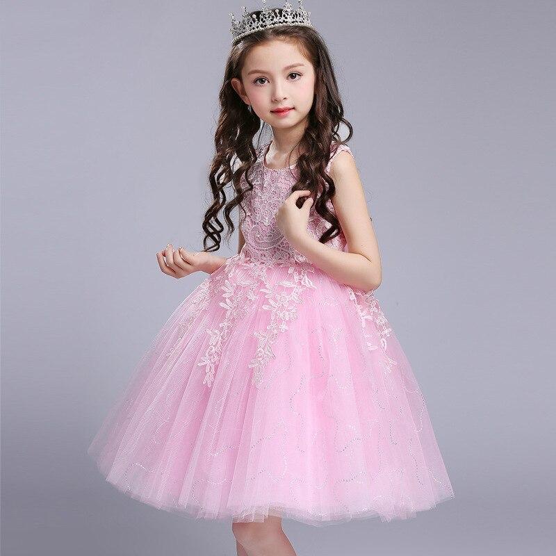 Compra rosa del vestido de bola vestido de niña de las flores ...