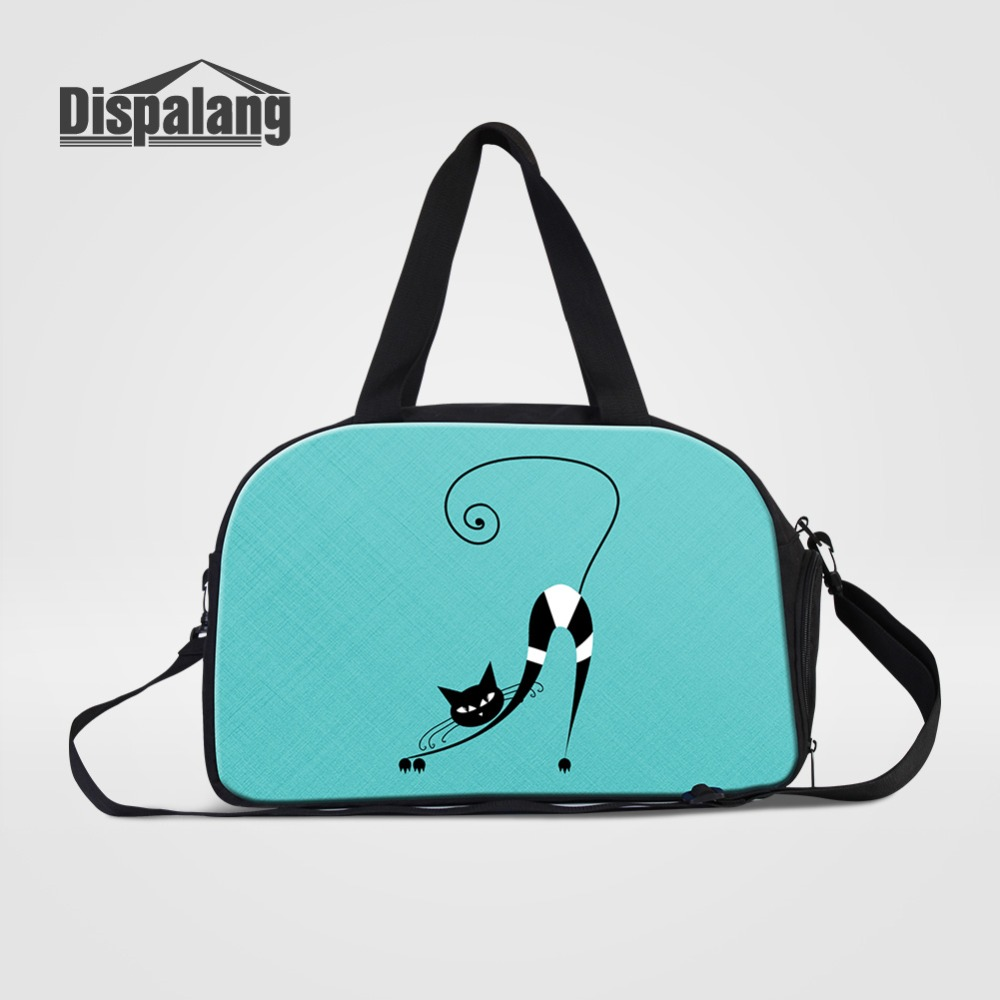 Luggage & Bags Artwork Animal Cat Travel Duffle Bags For Teenage Girls Canvas Hand Luggage Shoulder Bag Ladies Holiday Beach Weekender Handbags Distinctive For Its Traditional Properties Travel Bags