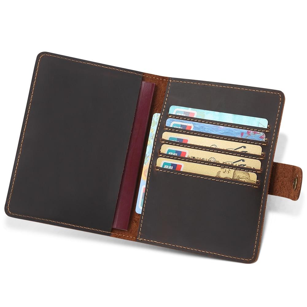 JOYIR New Genuine Leather Travel Passport Plånbok RFID Cover ID - Plånböcker - Foto 1